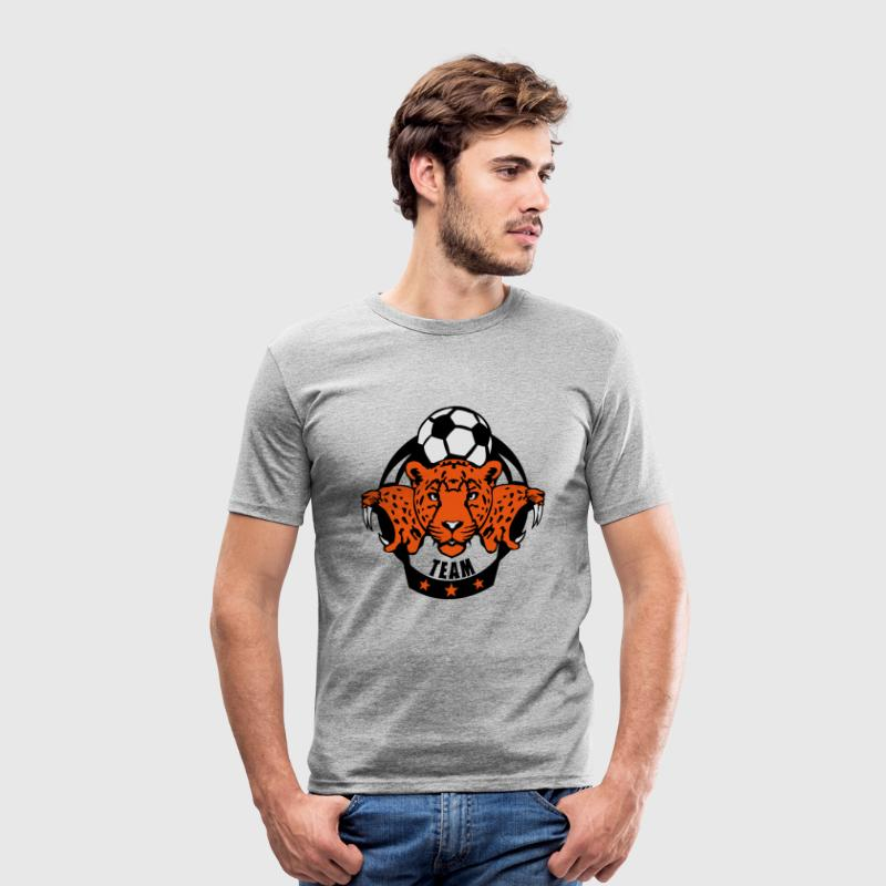 foot guepard soccer profil animal logo Tee shirts - Tee shirt près du corps Homme
