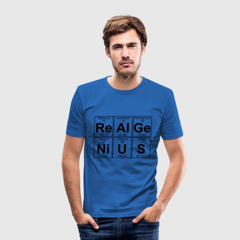 Re-Al-Ge-Ni-U-S (real genius) - Full T-Shirts - Men's Slim Fit T-Shirt