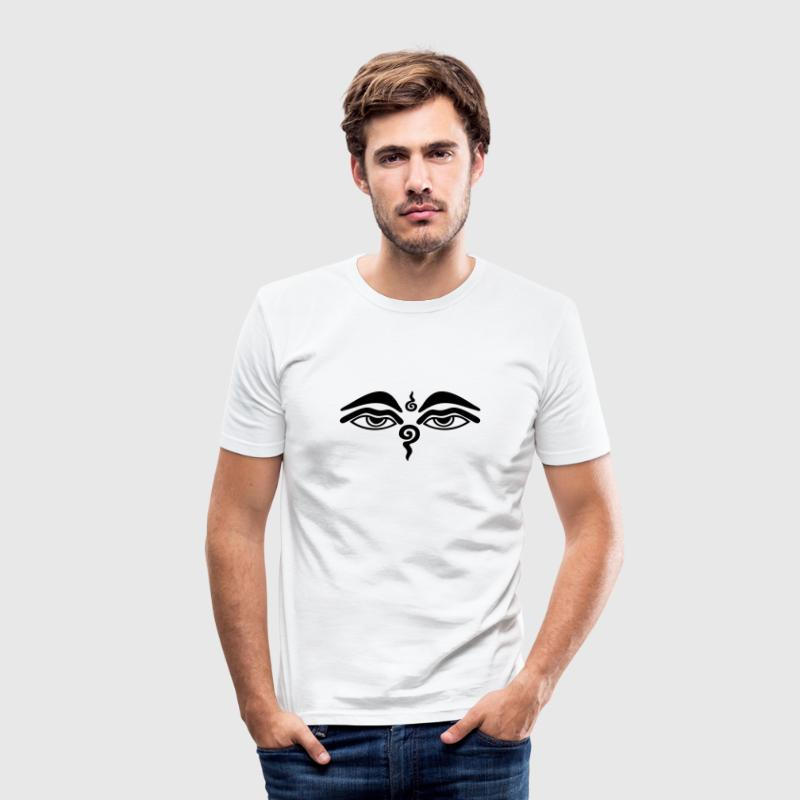 Buddha Eyes T-Shirts - Men's Slim Fit T-Shirt