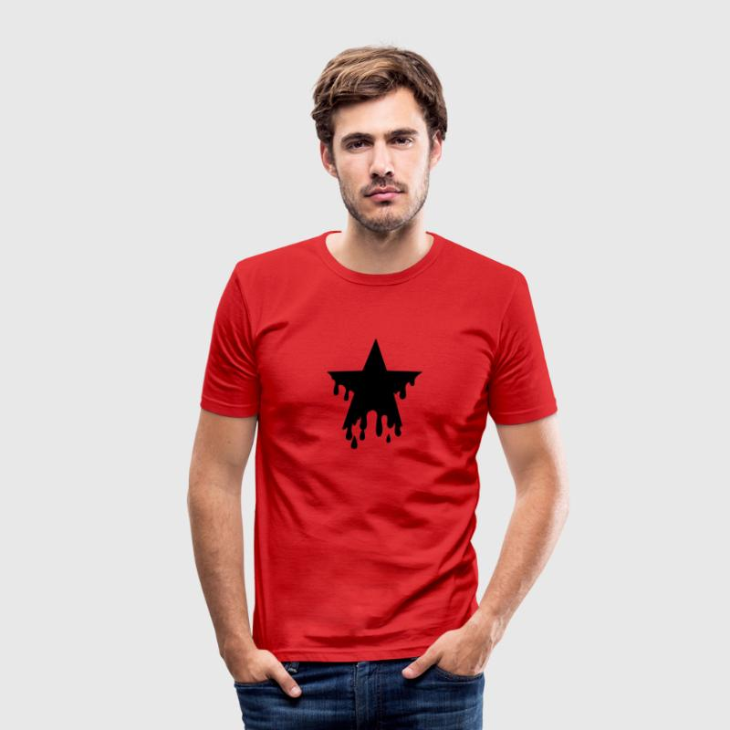 Star punk blood anarchy symbol revolution against Camisetas - Camiseta ajustada hombre