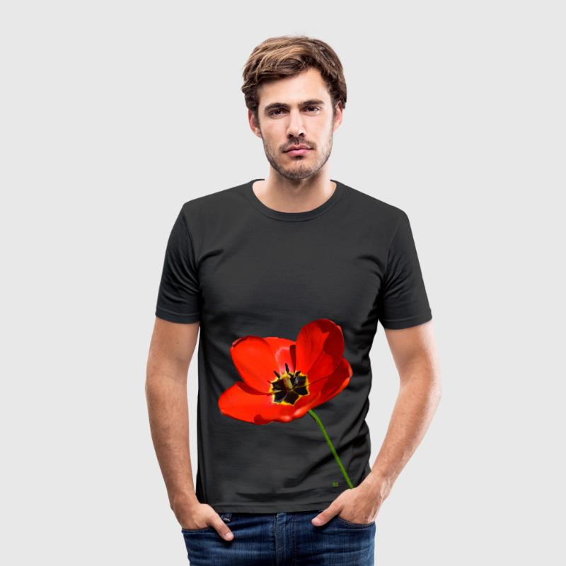 Red poppy seed T-Shirts - Men's Slim Fit T-Shirt