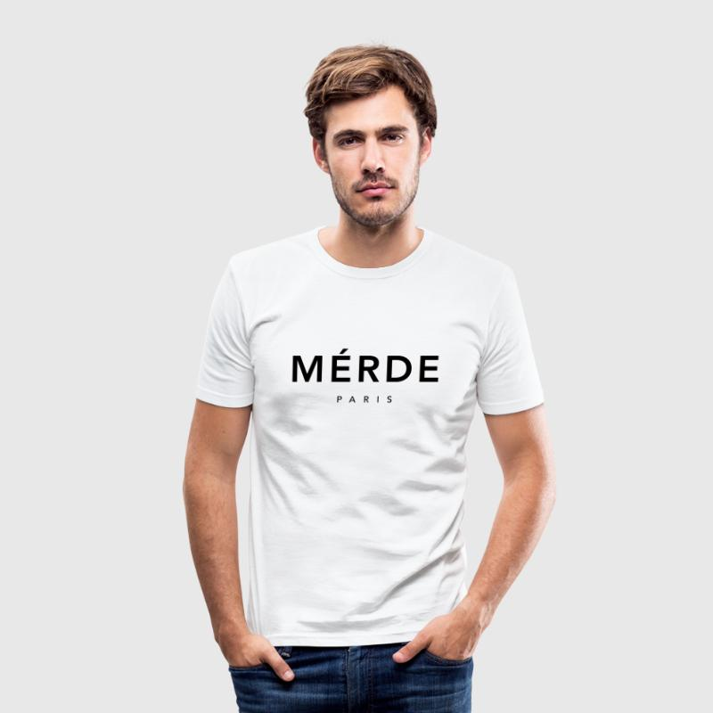 Merde Paris - Männer Slim Fit T-Shirt