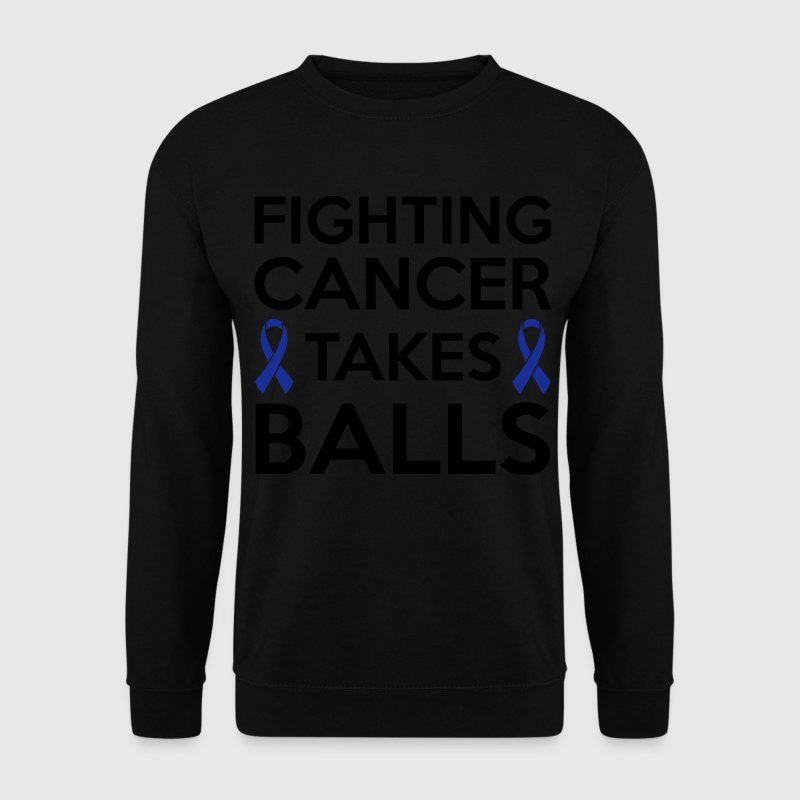 Fighting cancer takes balls Sweat-shirts - Sweat-shirt Homme