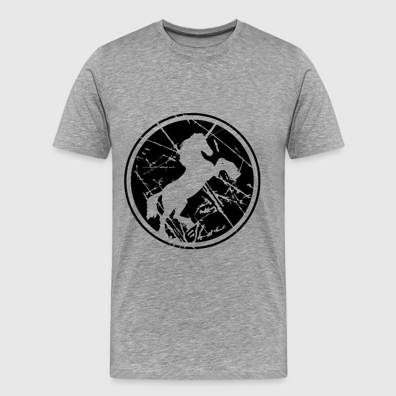 Unicorn Circle Logo scratches old cool T-Shirts - Men's Premium T-Shirt