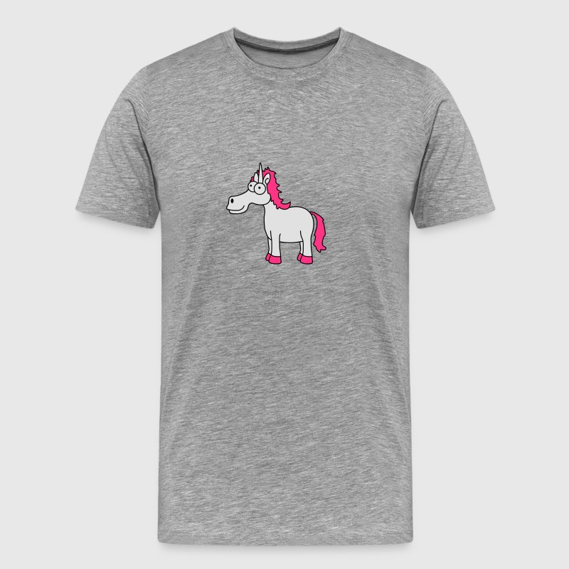 Funny Crazy Comic Cartoon Unicorn T-Shirts - Men's Premium T-Shirt