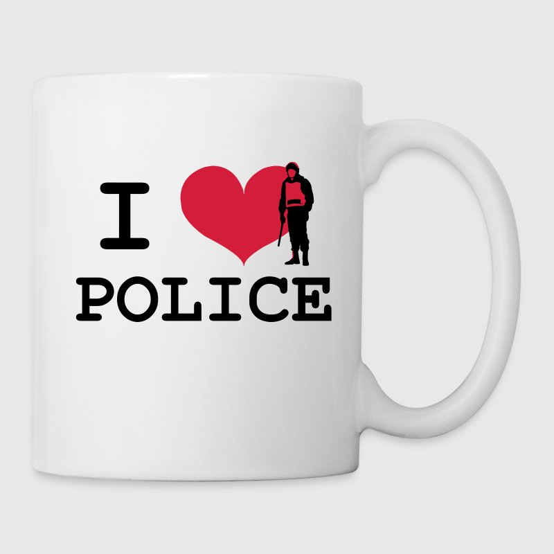 I Love Police Mugs & Drinkware - Mug