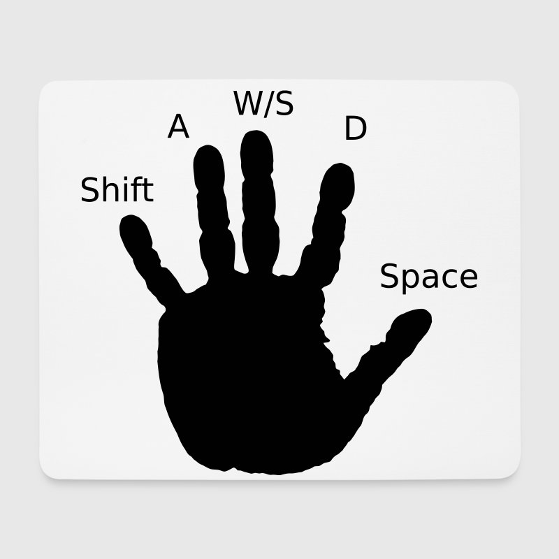 Gamer Hand, WASD - Mouse Pad (horizontal)