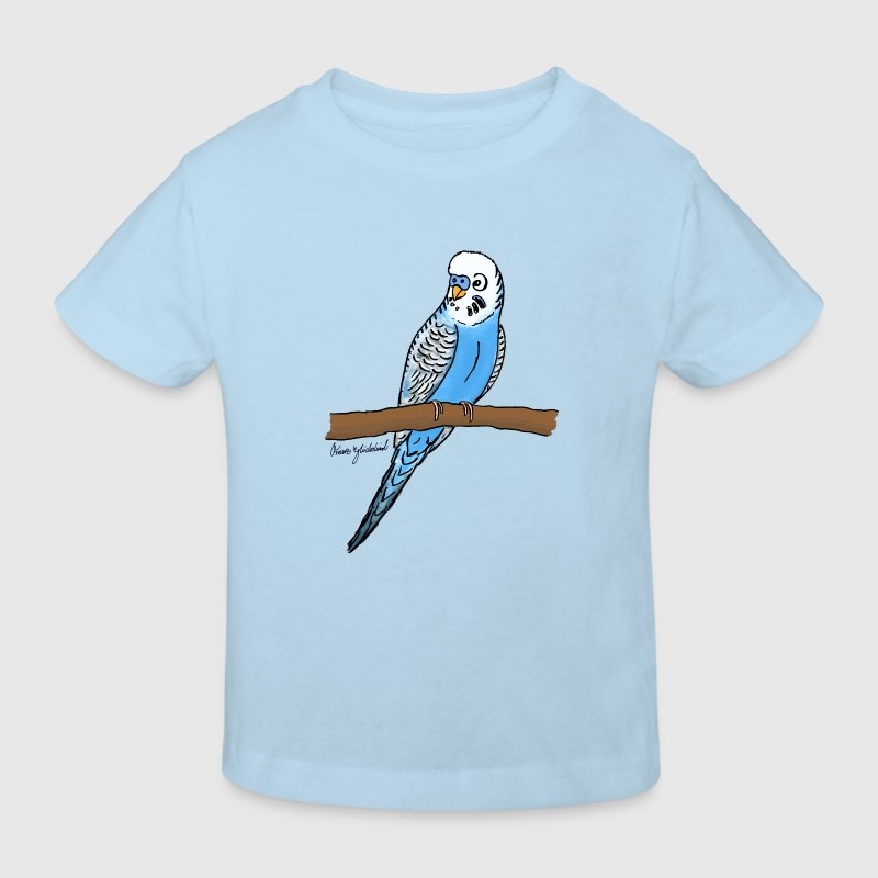 Blauer Wellensittich T-Shirts - Kinder Bio-T-Shirt