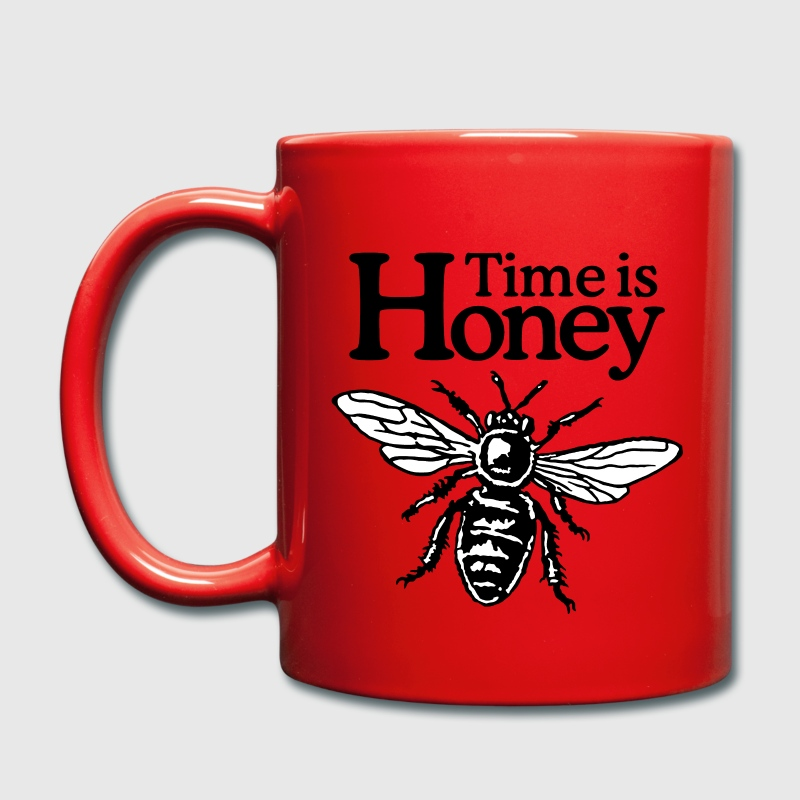 Imker Tasse Time is Honey - Tasse einfarbig