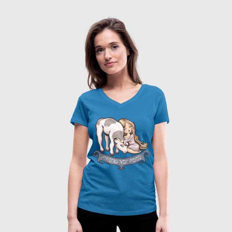 Friend not Food Tee shirts - T-shirt bio col en V Stanley & Stella Femme