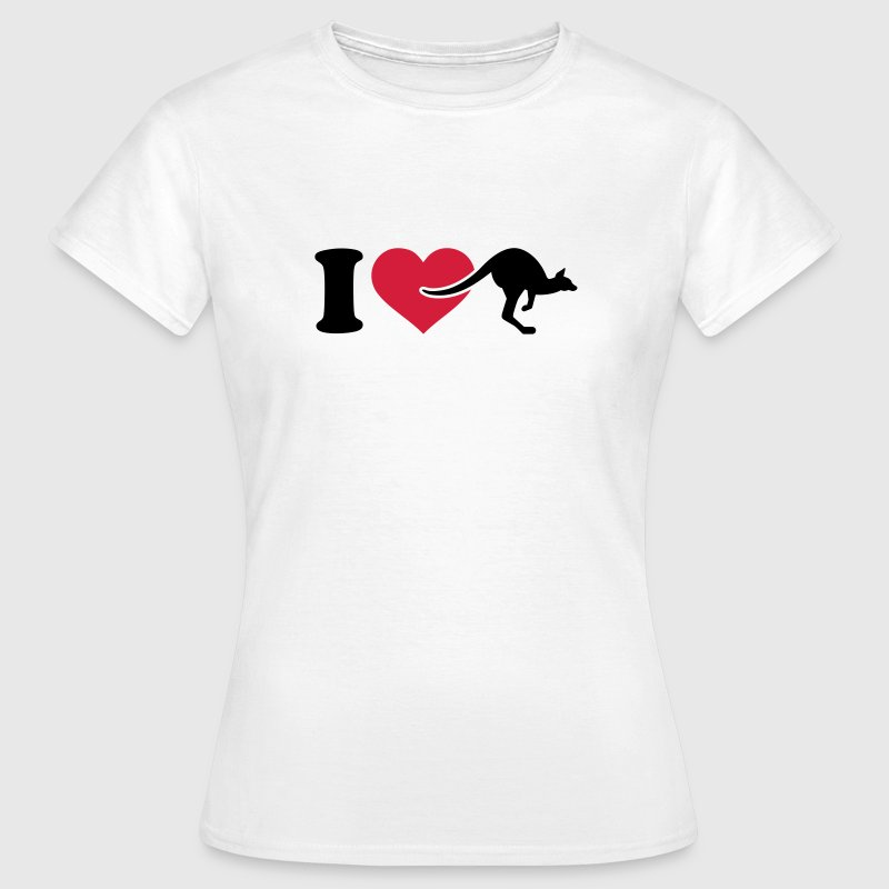 I love Känguru T-Shirts - Frauen T-Shirt