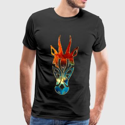 Animal antelope, Africa, Space, cosmos, galaxy,  L - Männer Premium T-Shirt