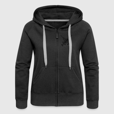Music Is My Drug - Love Music - Straight Edge Felpe - Felpa con zip premium da donna