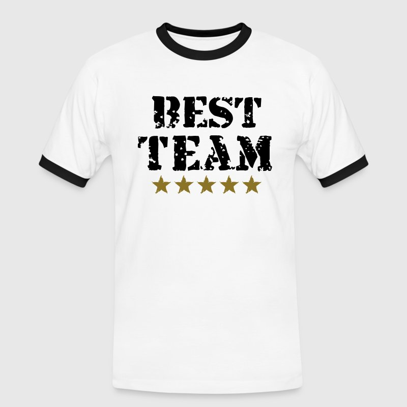 Best Team, 5 Stars, Champions, Sports, Winner Tee shirts - T-shirt contraste Homme