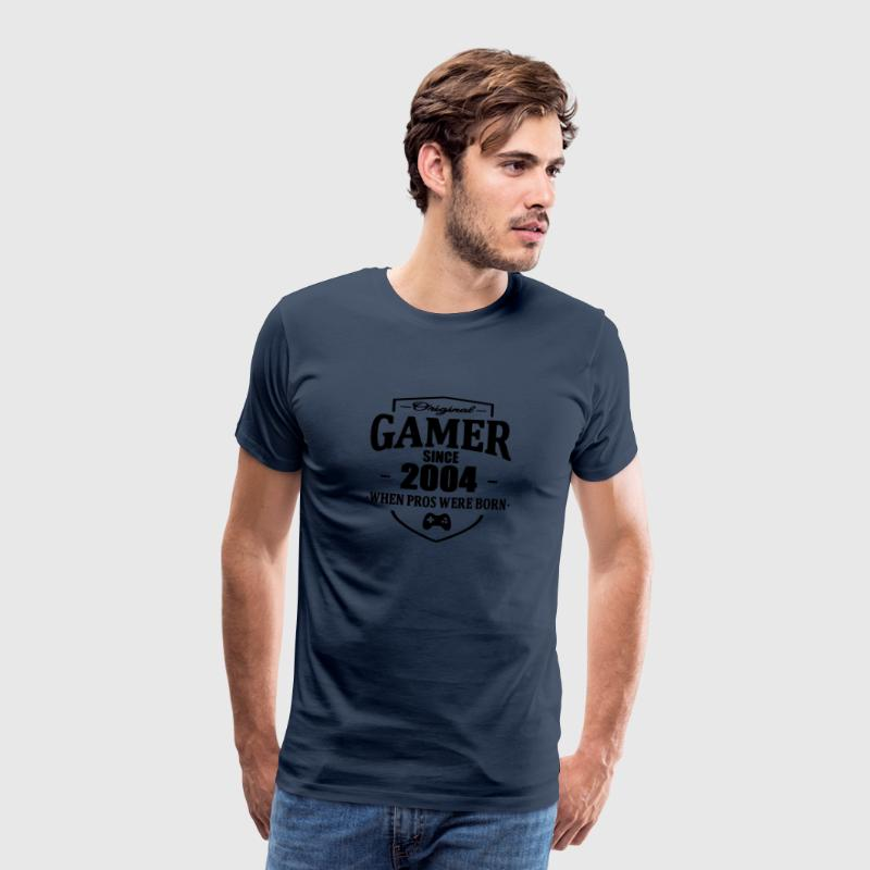 Gamer Since 2004 T-shirts - Herre premium T-shirt