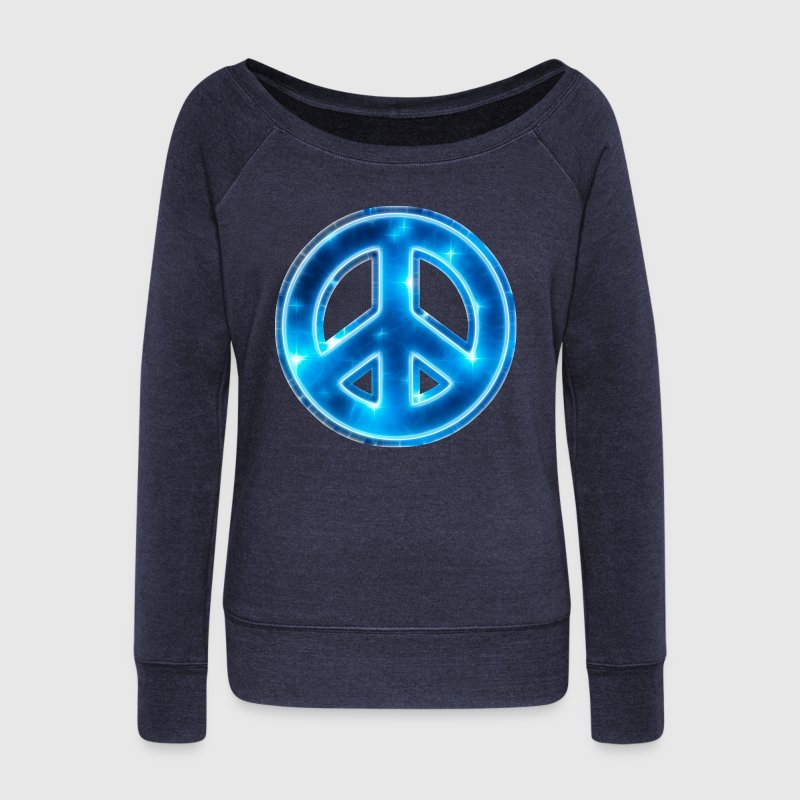 Space Peace, star, galaxy, symbol, universe, free Hoodies & Sweatshirts - Women's Boat Neck Long Sleeve Top
