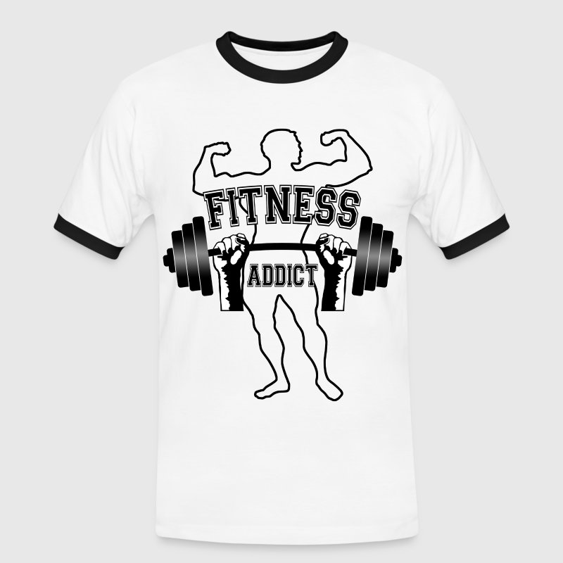 fitness addict 01 Tee shirts - T-shirt contraste Homme