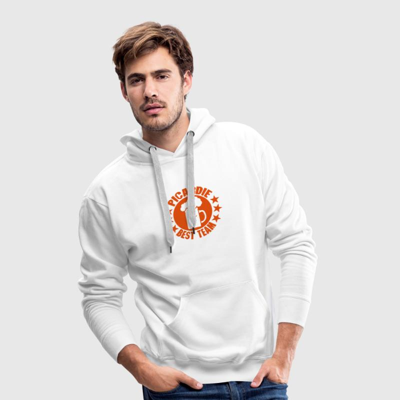 picardie best team biere alcool logo Sweat-shirts - Sweat-shirt à capuche Premium pour hommes