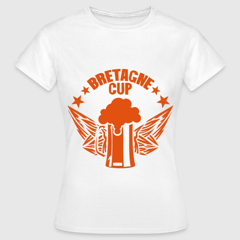 bretagne cup biere logo alcool humour Tee shirts - T-shirt Femme