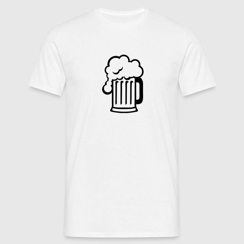 biere dessin alcool chope mousse 1710 Tee shirts - T-shirt Homme