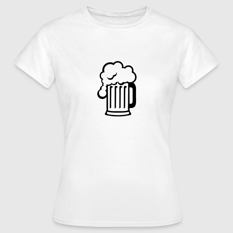 biere dessin alcool chope mousse 1710 Tee shirts - T-shirt Femme