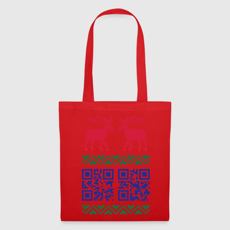 Ugly Christmas Sweater QR Code Happy New Year! Bag - Tote Bag