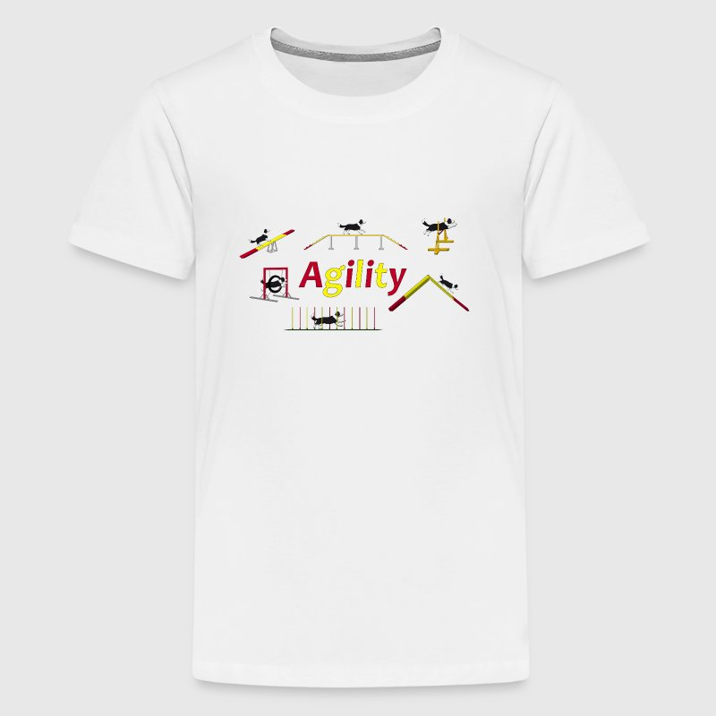 Agility equipment with Titel.png T-shirts - Premium-T-shirt tonåring