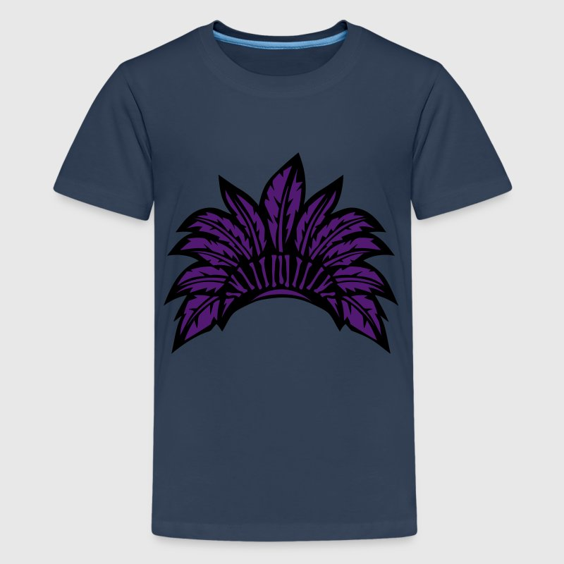 coiffe indienne indien plume 29 Tee shirts - T-shirt Premium Ado