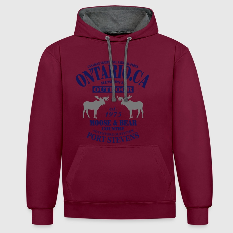 Canada - Moose & Bear Country Pullover & Hoodies - Kontrast-Hoodie