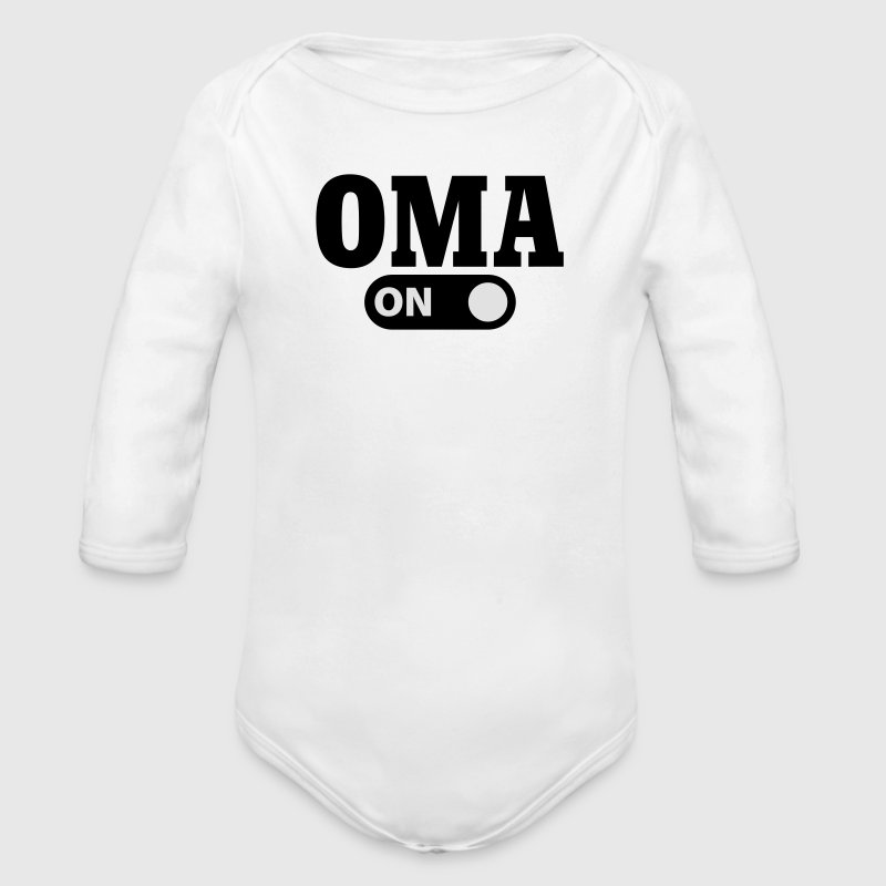 Oma on Pullover & Hoodies - Baby Bio-Langarm-Body