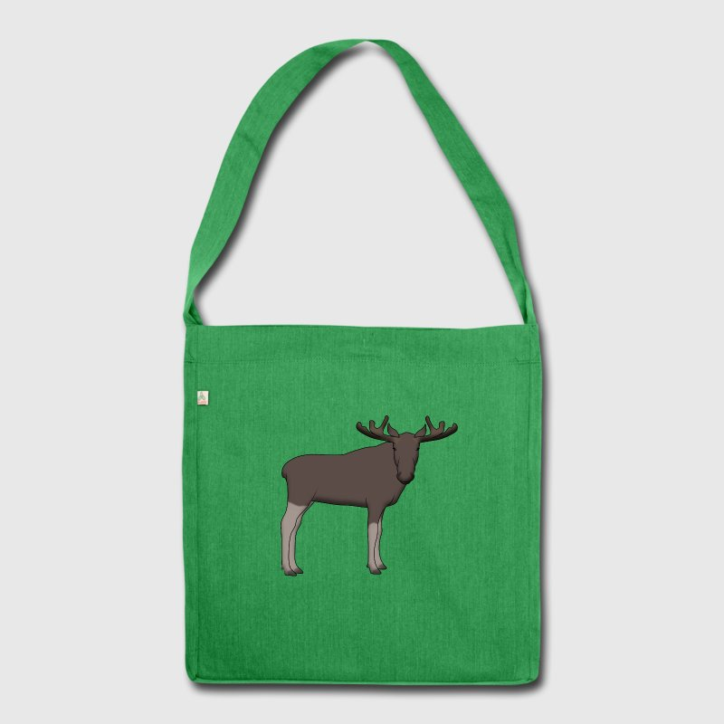Moose head front Bags & Backpacks - Shoulder Bag made from recycled material