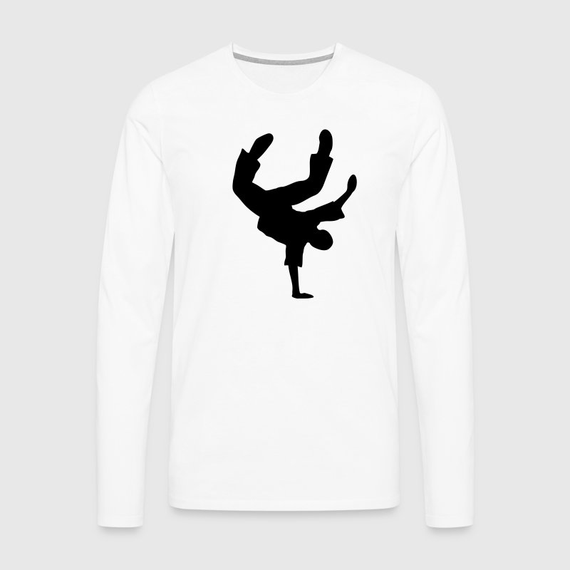 Breakdance Dancer Moves Freeze Clipart Music Dance Long sleeve shirts - Men's Premium Longsleeve Shirt
