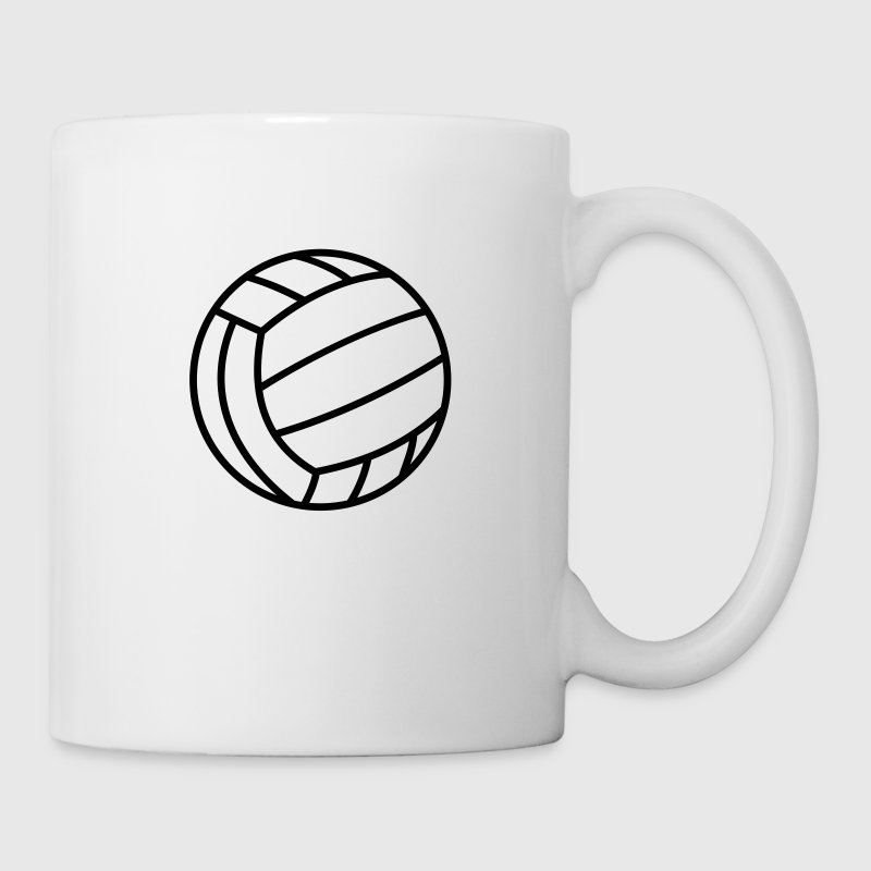 Volleyball Ball Icon Clipart Sports T-Shirts Logo Mugs & Drinkware - Mug