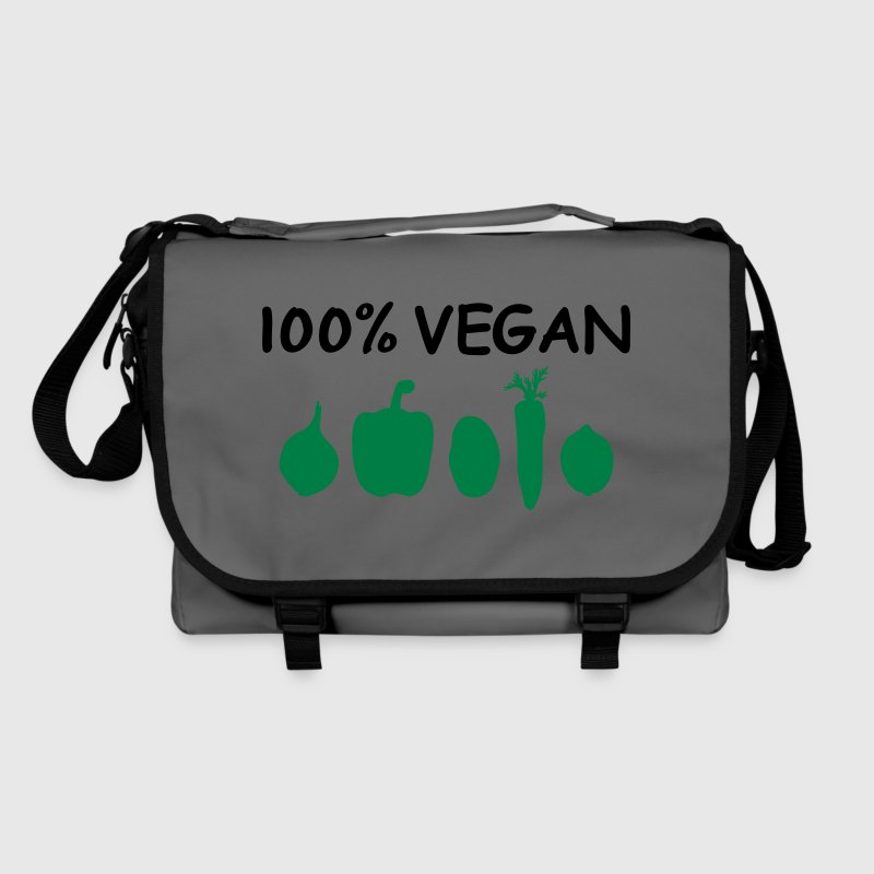 100% Vegan Logo Vegetables Vegans Vegetarian Chef Bags & Backpacks - Shoulder Bag