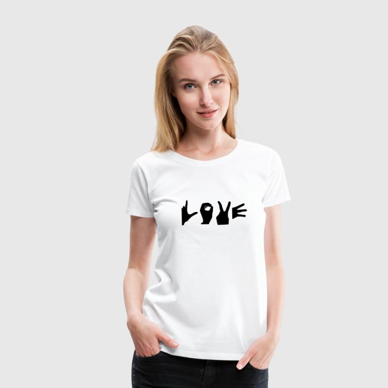 love finger symbol T-Shirts - Frauen Premium T-Shirt