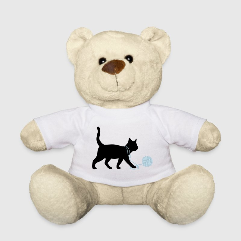 Cute Kitten Cat playing with wool funny animals  Teddy Bear Toys - Teddy Bear