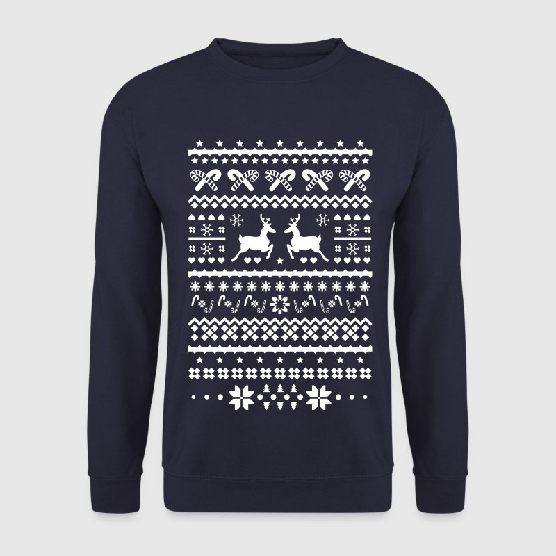 christmas reindeer rennes de noël Sweat-shirts - Sweat-shirt Homme