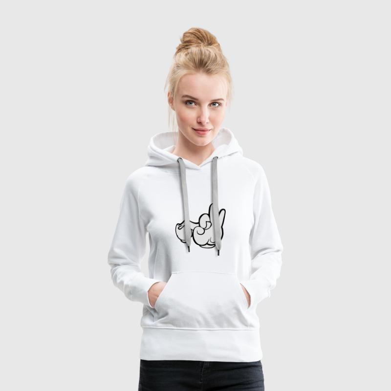 mickey gloves Sweat-shirts - Sweat-shirt à capuche Premium pour femmes