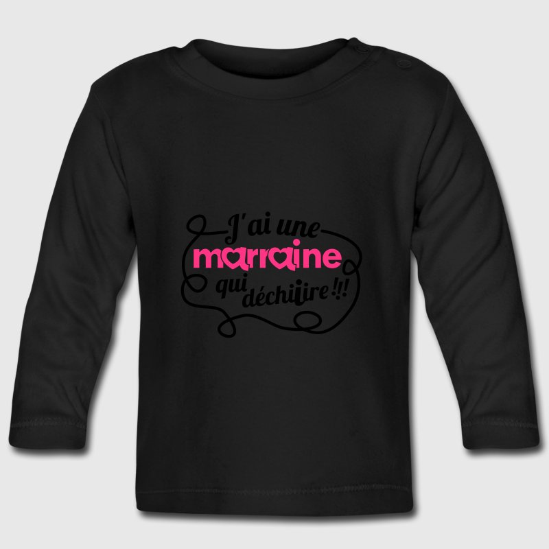 t shirt manches longues b b marraine qui d chire spreadshirt. Black Bedroom Furniture Sets. Home Design Ideas