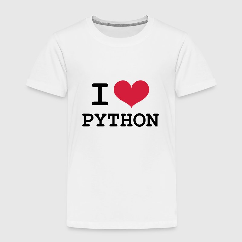 I Love Python [Developer / Geek] Shirts - Kids' Premium T-Shirt