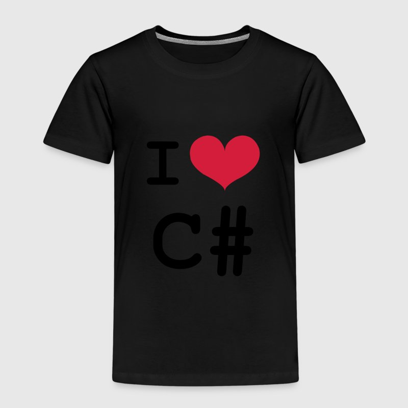 I Love C# [Developer / Geek] Shirts - Kids' Premium T-Shirt