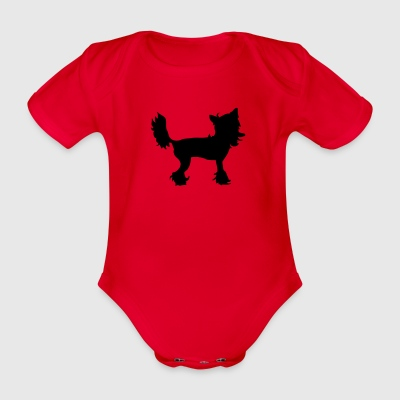 Chinese Crested T-Shirts - Baby Bio-Kurzarm-Body