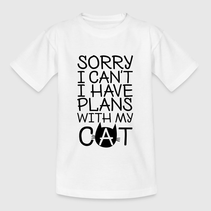 Sorry I Can't I Have Plans With My Cat T-Shirts - Kinder T-Shirt