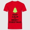 keep calm and merry christmas - Men's T-Shirt