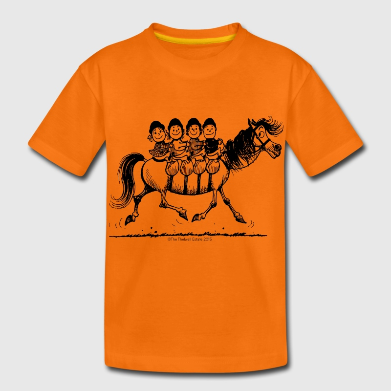 Viererbande Thelwell Cartoon T-Shirts - Kinder Premium T-Shirt