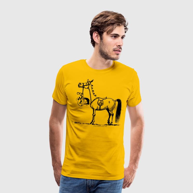 Stubborn Pony Thelwell Cartoon T-Shirts - Men's Premium T-Shirt