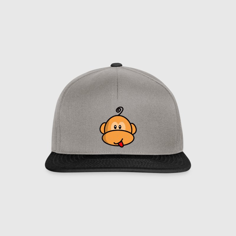 young monkey with tongue out vintage Casquettes et bonnets - Casquette snapback