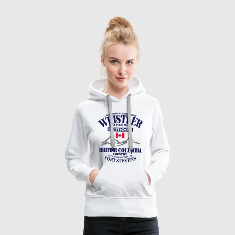 canada - whistler - apres - ski Sweat-shirts - Sweat-shirt à capuche Premium pour femmes