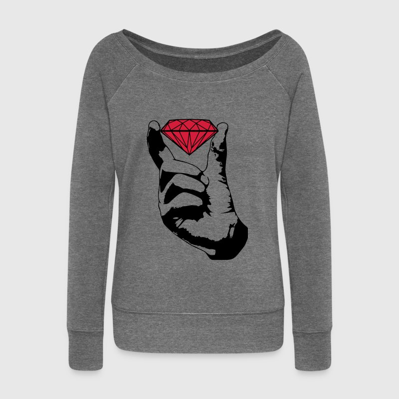 Swag diamant  Sweat-shirts - Pull Femme col bateau de Bella