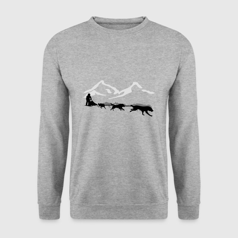 Traîneau à chiens - Husky- Yukon Quest - Alaska  Sweat-shirts - Sweat-shirt Homme